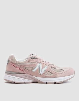 New Balance 990v4 Sneaker in Faded Rose