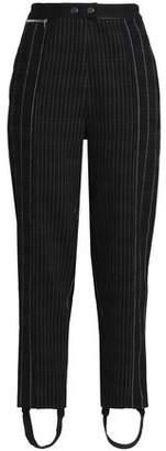 3.1 Phillip Lim Striped Crepe Straight-Leg Stirrup Pants