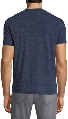 Karl Lagerfeld Paris Men's Foil-Logo Crewneck Short-Sleeve Heathered T-Shirt