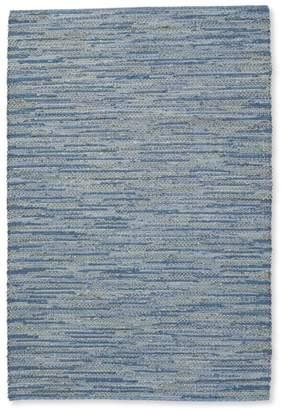 L.L. Bean L.L.Bean Indoor/Outdoor Textured Stripe Rug, Blue Multi