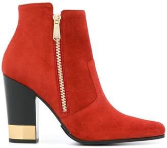 Balmain metallic heel boots