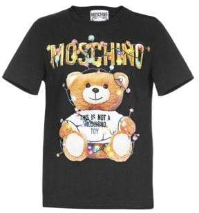 Moschino Women's Holiday Teddy Fitted Tee - Black - Size 42 (8)