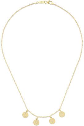 Jennifer Meyer Mini Letter 18-karat Gold Diamond Necklace
