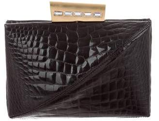 2d8ba643e867 Black Alligator Clutch - ShopStyle