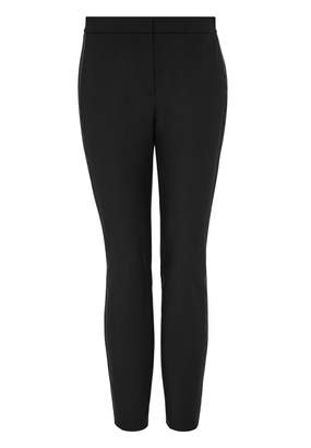 Hallhuber Slender trousers with satin stripes
