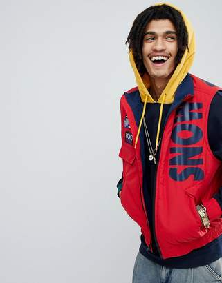 Polo Ralph Lauren Snow Beach Limited Capsule Vest In Red