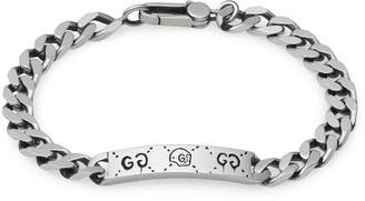 Gucci Jewel Ghost Chain Bracelet With Silver Plate With Aureco Finishing