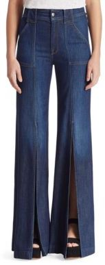 7 For All Mankind Slit Denim Palazzo Pants $229 thestylecure.com