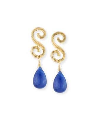 Splendid Company 18K Gold & Sapphire Briolette Drop Earrings