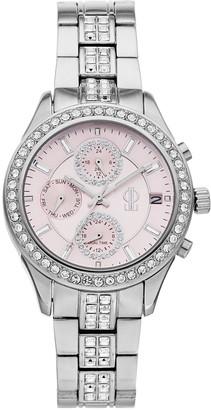 JLO by Jennifer Lopez Women's Crystal Stainless Steel Chronograph Watch