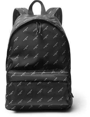 Balenciaga Explorer Printed Nylon Backpack - Black