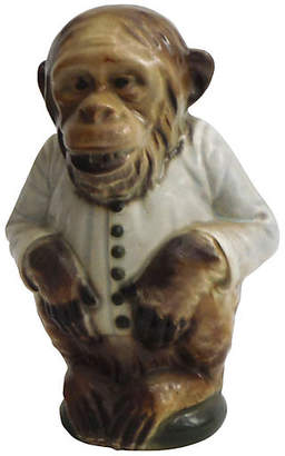 One Kings Lane Vintage Majolica Monkey Pitcher C.1900