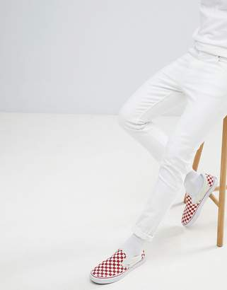 Weekday Sunday Stretch White Tapered Jeans