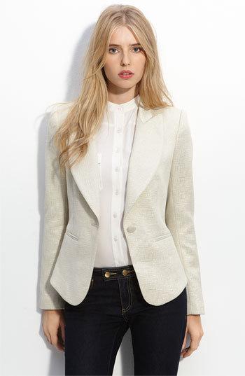 Rachel Zoe Metallic Brocade Jacket