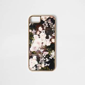 River Island Black floral print phone case