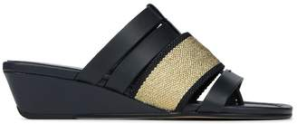 Donald J Pliner DARA, Mesh and Calf Leather Wedge Sandal