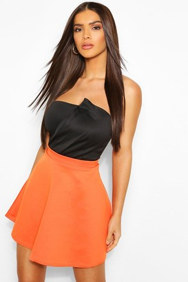 boohoo Fit And Flare Skater Skirt