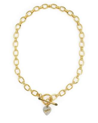 Juicy Couture Pave Heart Juicy Logo Starter Necklace