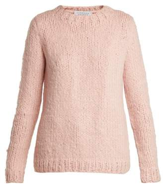 Gabriela Hearst Luiz Round Neck Cashmere Sweater - Womens - Light Pink