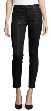 7 For All Mankind Ankle Skinny Coated Jeans