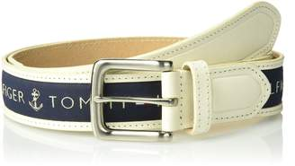 Tommy Hilfiger Men's Men's Ribbon Inlay Belt