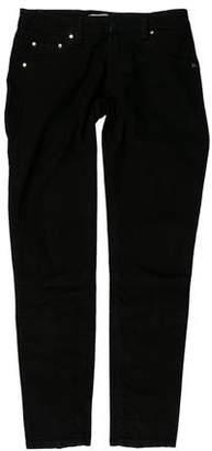 Pierre Balmain Low-Rise Grommet Jeans