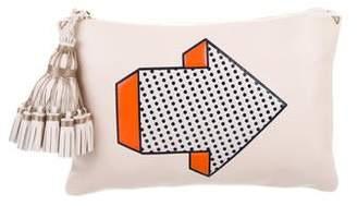Anya Hindmarch Georgiana Arrow Tassel Clutch Bag