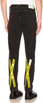 Off-White Off White Firetape Slim Jeans