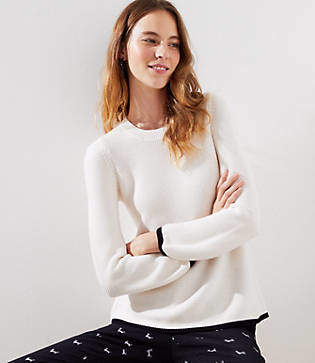 LOFT Petite Tipped Swingy Sweater