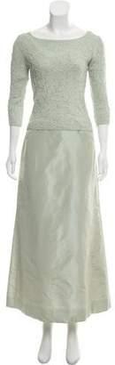 Carmen Marc Valvo Embellished Two-Piece Skirt Set