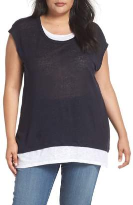 Vince Camuto Layered Look Tee