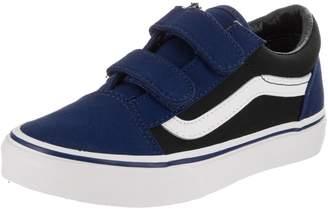 Vans Kids Old Skool V (Pop) Blue Depths/Black Skate Shoe 11 Kids US