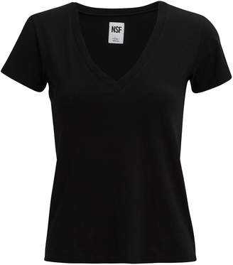 NSF V-Neck Black T-Shirt