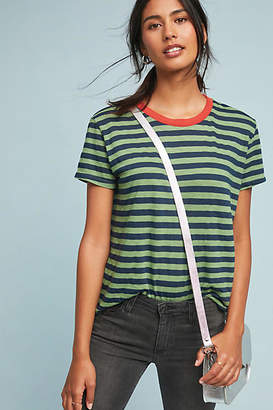 Velvet by Graham & Spencer Peace Striped Ringer Tee