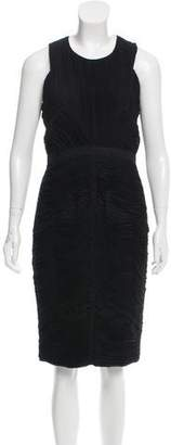 Burberry Ruched Sheath Dress