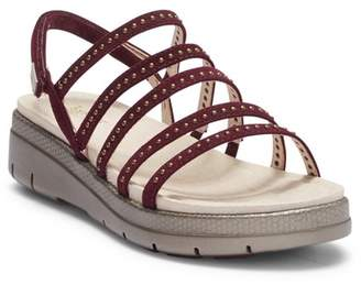 Jambu Elegance Leather Wedge Sandal