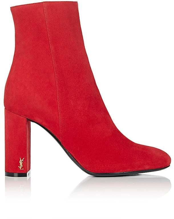 Saint Laurent Women's Loulou Suede Ankle Boots