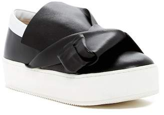 N°21 N.21 Leather Platform Slip-On Sneaker
