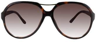 A New Day Women's Plastic Aviator Sunglasses Brown