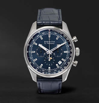 Zenith El Primero 410 42mm Stainless Steel And Alligator Watch