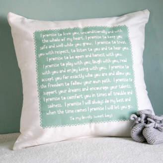 Modo creative Personalised Baby Promise Cushion