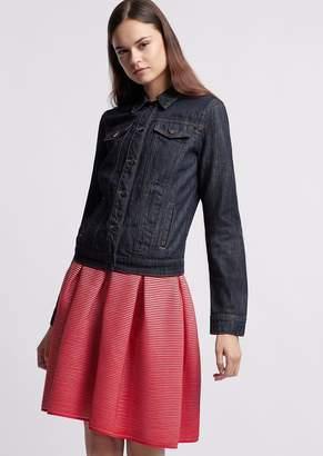 Emporio Armani Denim Jacket With Contrasting Stitching
