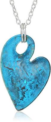 Robert Lee Morris Women's You Got Me Heart Pendant Necklace