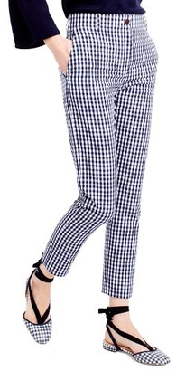 Women's J.crew Puckered Gingham Cigarette Pants $98 thestylecure.com