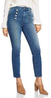 1 STATE 1.STATE Button-Front Skinny Jeans in Mid Authentic