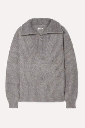Etoile Isabel Marant Myclan Ribbed-knit Sweater - Gray