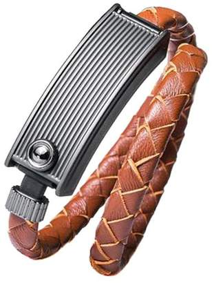 """Kyte&Key Brown Leather iPhone Charging Cable Wrap Bracelet """"Cavoletto"""""""