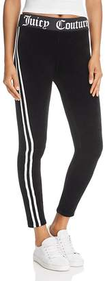 Juicy Couture Black Label Striped Velour Leggings - 100% Exclusive $108 thestylecure.com