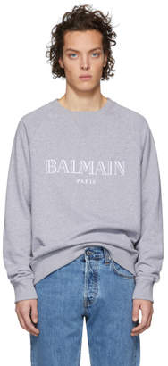 Balmain Grey Logo Sweatshirt