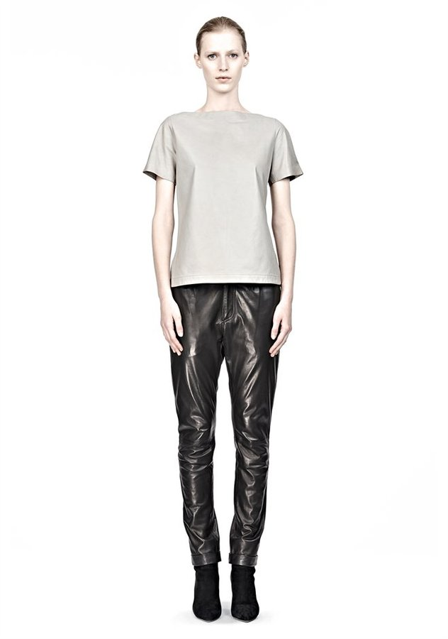 Alexander Wang Boatneck Leather Top